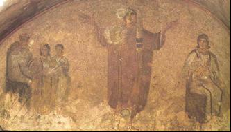 Orante de la catacumba de los Giordani